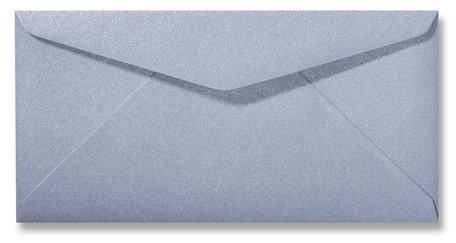 Envelop 11 x 22 cm Metallic Zilver