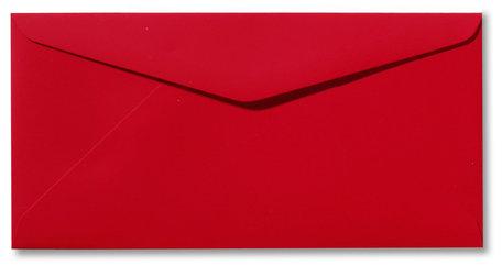 Envelop 11 x 22 cm Softskin Rood