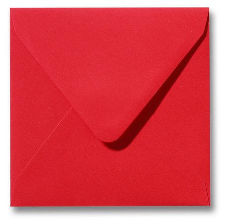 Envelop 12 x 12 cm Koraalrood
