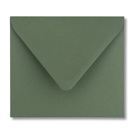 Envelop 12,5 x 14 cm Donkergroen