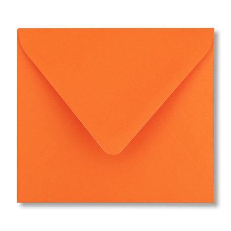 Envelop 12,5 x 14 cm Donkeroranje