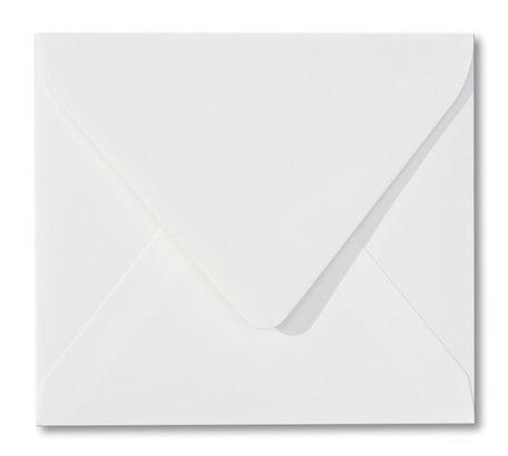 Envelop 12,5 x 14 cm Gebroken wit