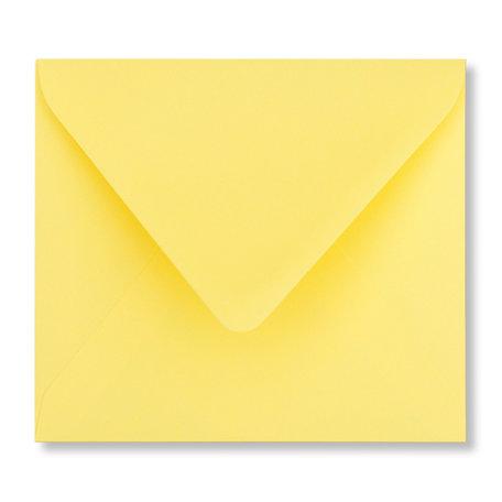 Envelop 12,5 x 14 cm Kanariegeel