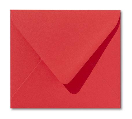 Envelop 12,5 x 14 cm Koraalrood