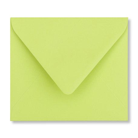 Envelop 12,5 x 14 cm Lindegroen