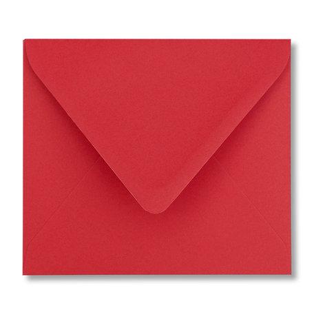 Envelop 12,5 x 14 cm Pioenrood