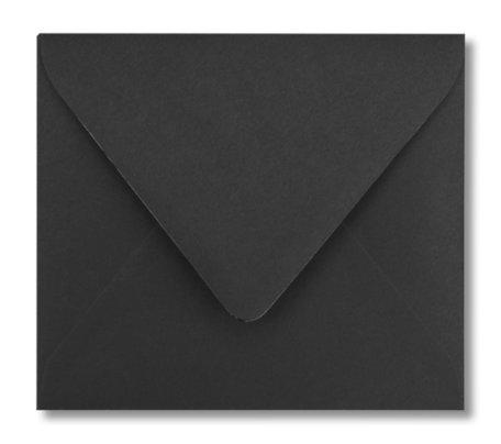 Envelop 12,5 x 14 cm Zwart