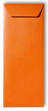 Envelop 12,5 x 31,2 cm Metallic Orange Glow