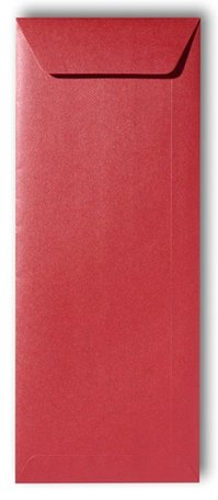 Envelop 12,5 x 31,2 cm Metallic Rosso