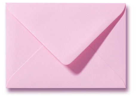 Envelop 13 x 18 cm Donkerroze