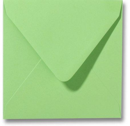 Envelop 14 x 14 cm Appelgroen