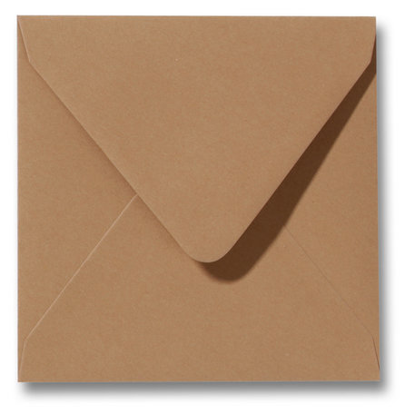 Envelop 14 x 14 cm Bruin