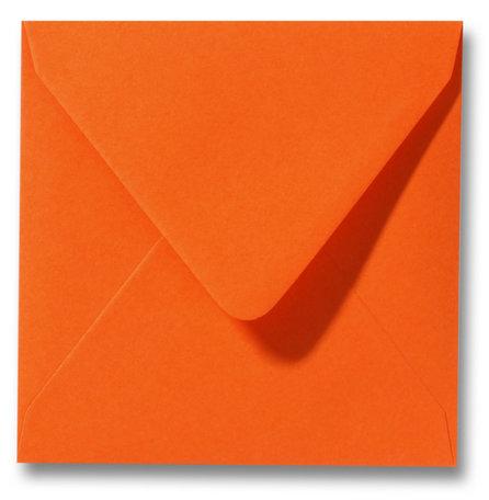 Envelop 14 x 14 cm Donkeroranje