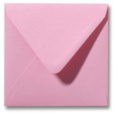 Envelop 14 x 14 cm Donkerroze