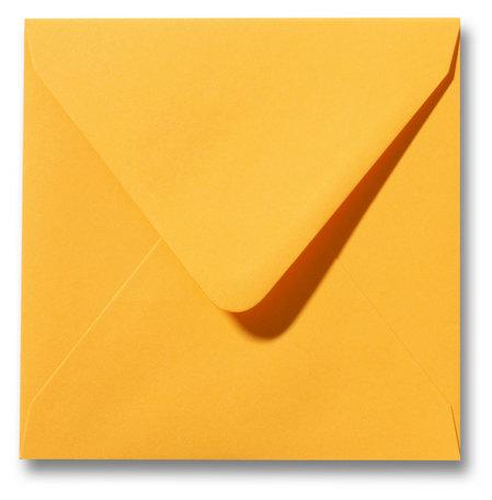 Envelop 14 x 14 cm Goudgeel
