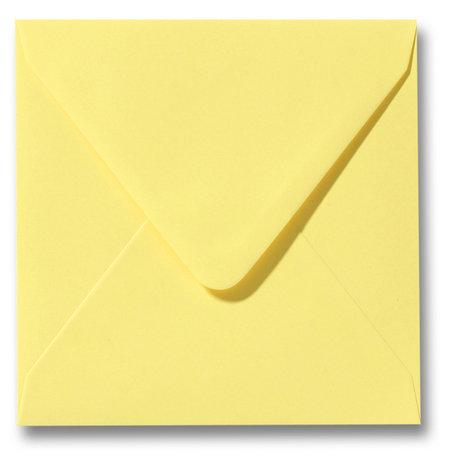Envelop 14 x 14 cm Kanariegeel