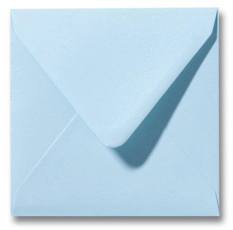 Envelop 14 x 14 cm Laguneblauw