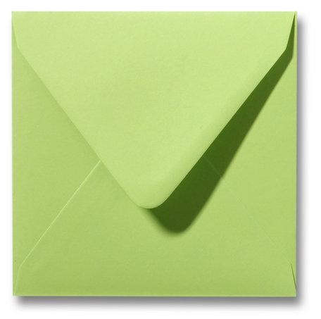 Envelop 14 x 14 cm Lindegroen