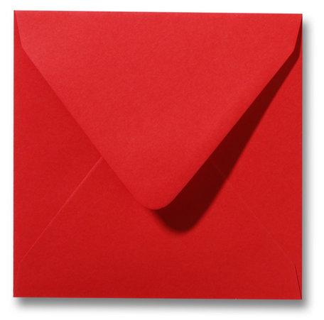 Envelop 14 x 14 cm Pioenrood