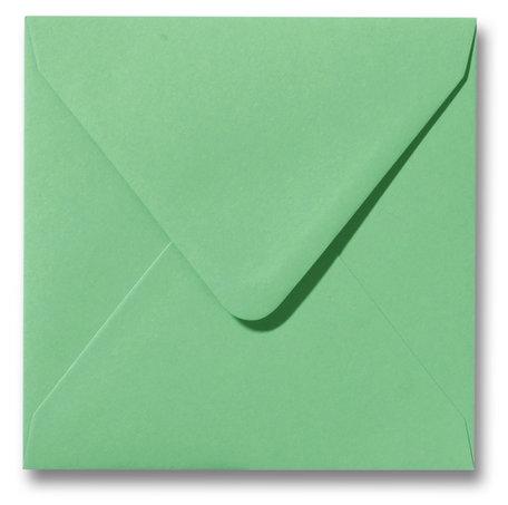 Envelop 14 x 14 cm Weidegroen