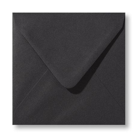 Envelop 14 x 14 cm Zwart