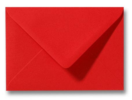 Envelop 15,6 x 22 cm Koraalrood