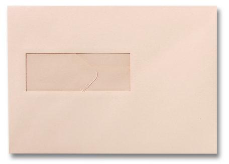 Envelop 15,6 x 22 cm Abrikoos venster