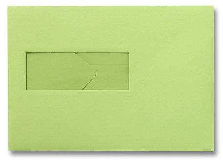 Envelop 15,6 x 22 cm Appelgroen venster
