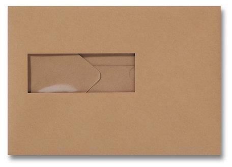 Envelop 15,6 x 22 cm Bruin venster