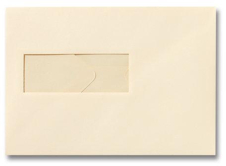 Envelop 15,6 x 22 cm Chamois venster