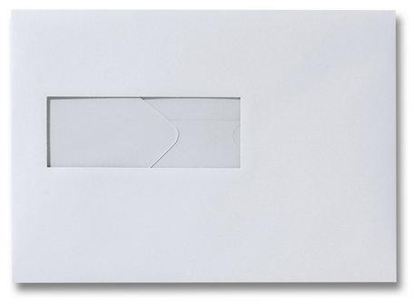 Envelop 15,6 x 22 cm Dolfijngrijs venster