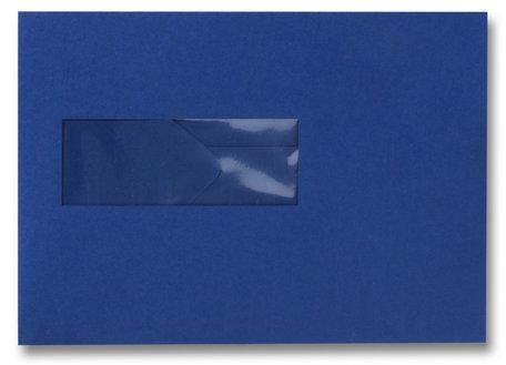 Envelop 15.6 x 22 cm Donkerblauw venster
