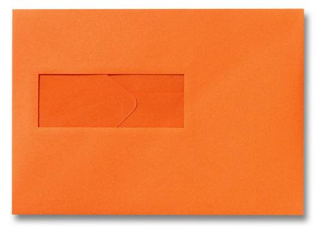 Envelop 15,6 x 22 cm Donkeroranje venster