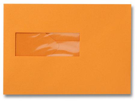 Envelop 15,6 x 22 cm Feloranje venster
