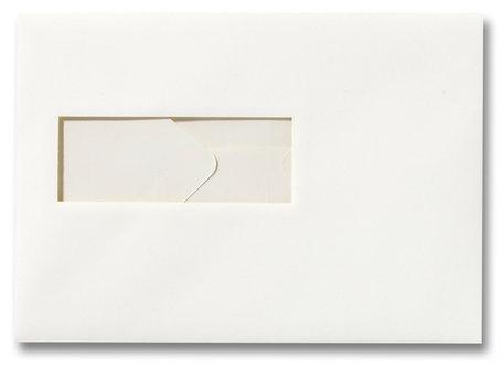 Envelop 15,6 x 22 cm Gebroken wit venster
