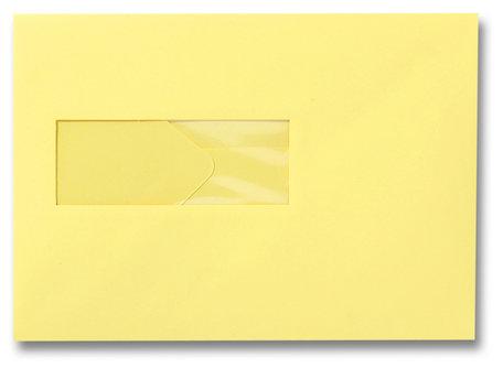 Envelop 15,6 x 22 cm Kanariegeel venster