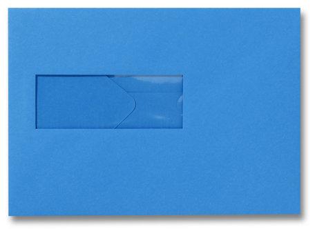 Envelop 15,6 x 22 cm Koningsblauw venster