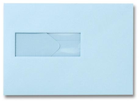 Envelop 15,6 x 22 cm Laguneblauw venster