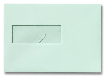 Envelop 15,6 x 22 cm Lichtgroen venster