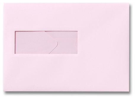 Envelop 15,6 x 22 cm Lichtroze venster