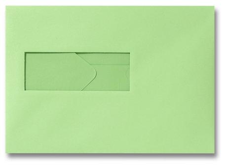 Envelop 15,6 x 22 cm Lindegroen venster