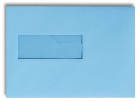 Envelop 15,6 x 22 cm Oceaanblauw venster
