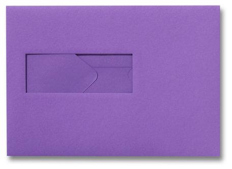 Envelop 15,6 x 22 cm Paars venster