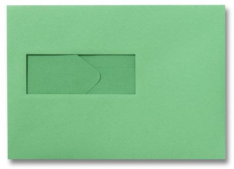 Envelop 15,6 x 22 cm Weidegroen venster