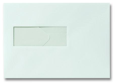 Envelop 15.6 x 22 cm Zachtblauw venster