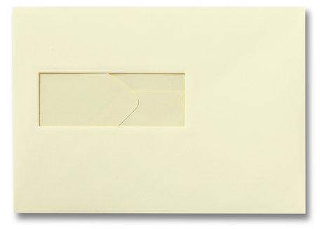 Envelop 15.6 x 22 cm Zachtgeel venster