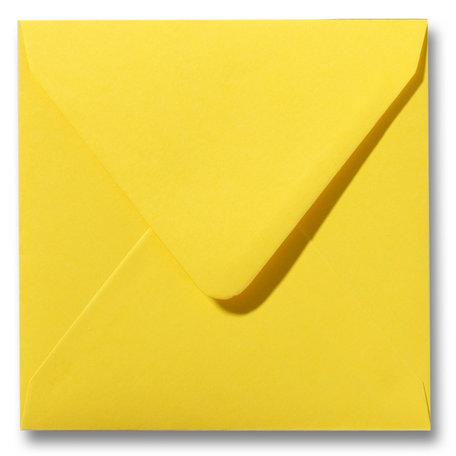 Envelop 16 x 16 cm Boterbloemgeel