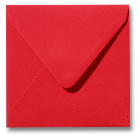 Envelop 16 x 16 cm Koraalrood