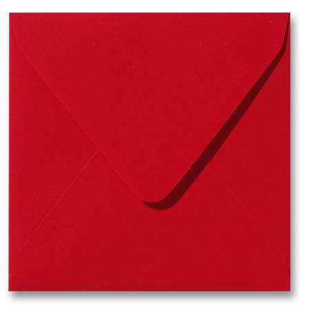 Envelop 16 x 16 cm Softskin Rood