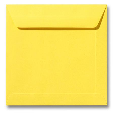Envelop 17 x 17 cm Boterbloemgeel